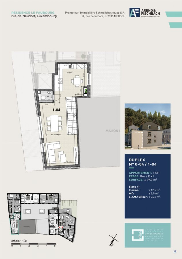 acheter duplex 1 chambre 79 m² luxembourg photo 2