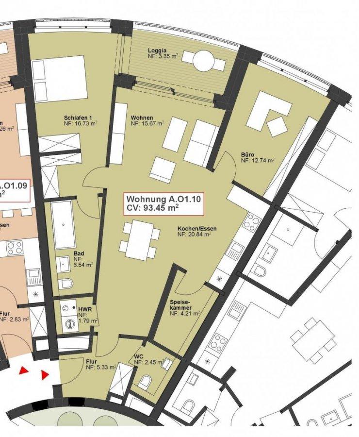 wohnung kaufen 2 schlafzimmer 93.45 m² wasserbillig foto 1