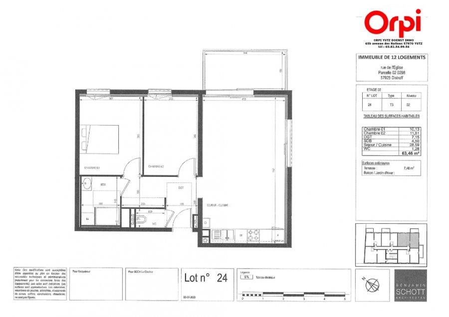 acheter appartement 3 pièces 63.46 m² distroff photo 3