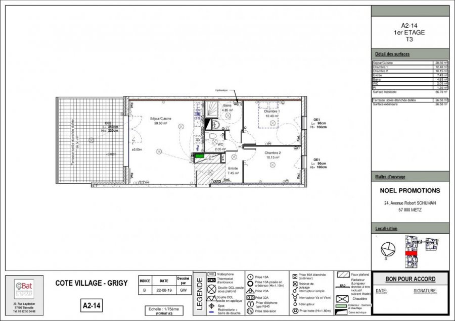 acheter appartement 3 pièces 66 m² metz photo 1
