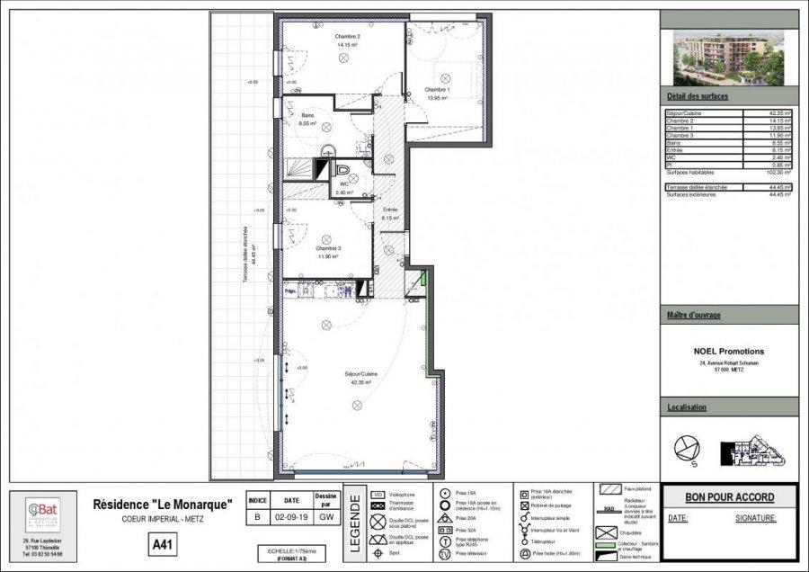 acheter appartement 5 pièces 102 m² metz photo 1