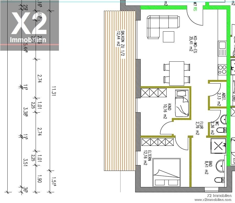 wohnung kaufen 3 zimmer 83.07 m² trier foto 1
