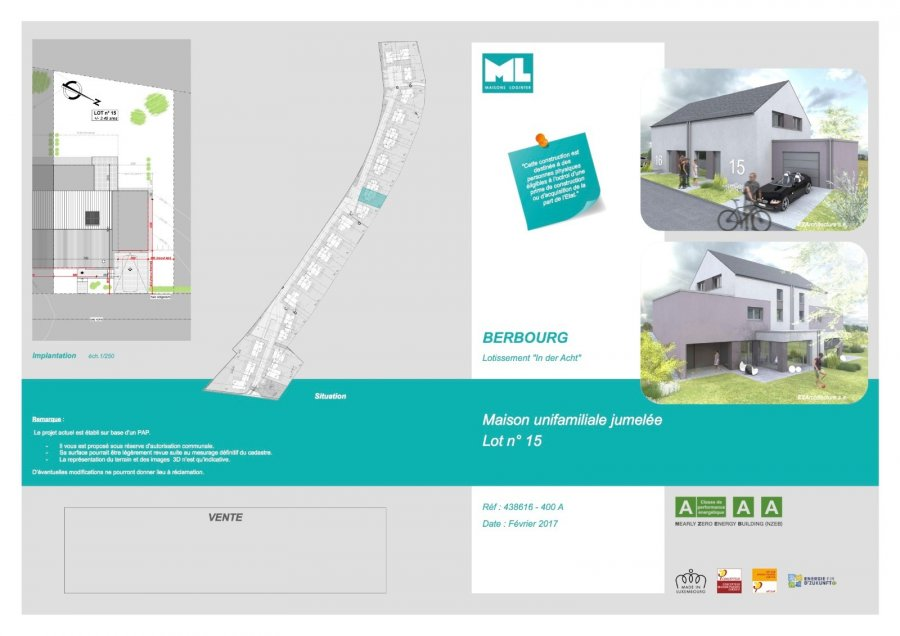 acheter maison jumelée 3 chambres 135 m² berbourg photo 7