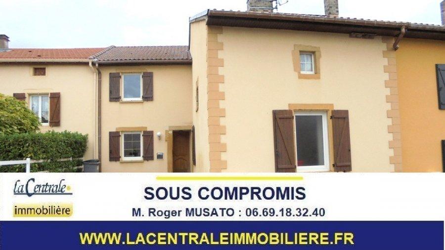 Maison mitoyenne à vendre F6 à Doncourt-lès-Conflans