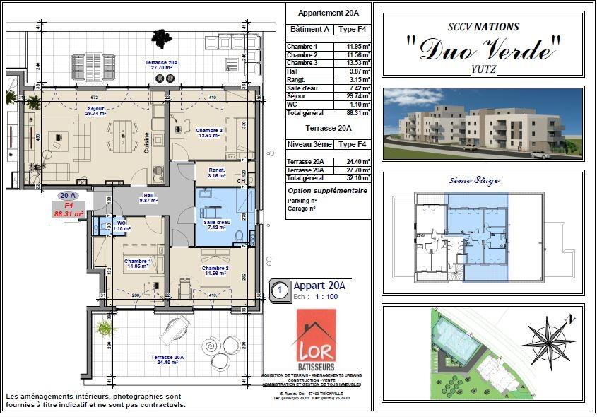 acheter appartement 5 pièces 88.31 m² yutz photo 2