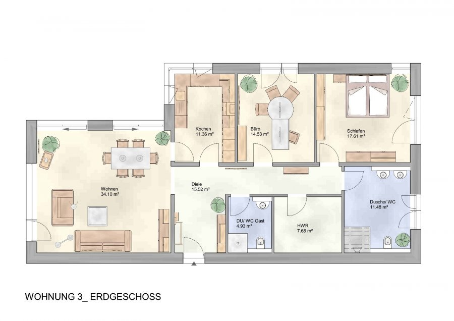 wohnung kaufen 3 zimmer 125.83 m² trier foto 4