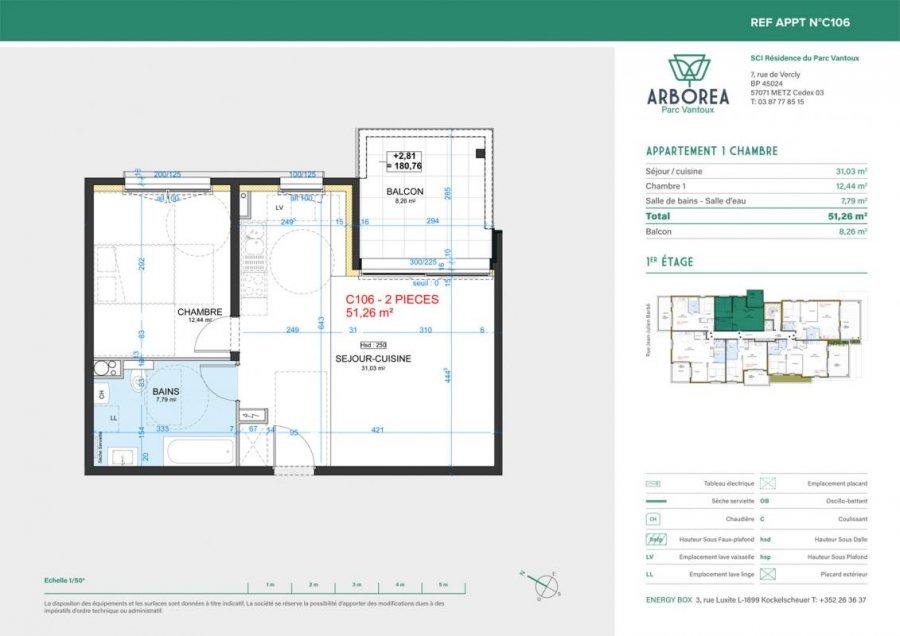 acheter appartement 2 pièces 51 m² metz photo 3