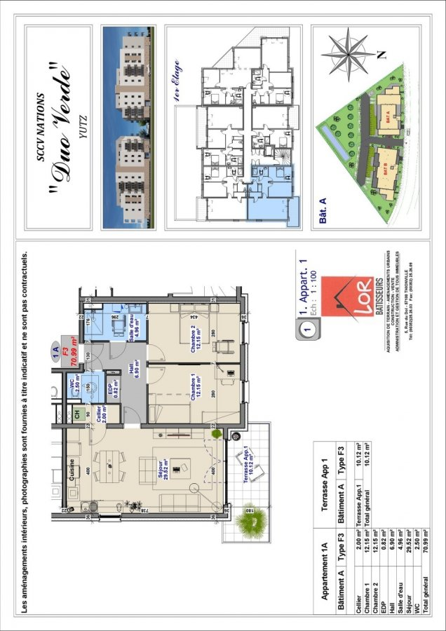 acheter appartement 3 pièces 71 m² yutz photo 3