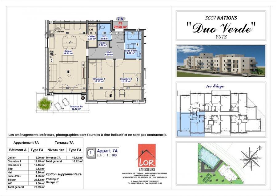 acheter appartement 3 pièces 71 m² yutz photo 2