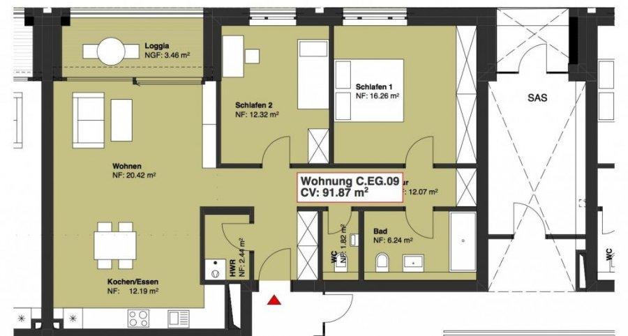 wohnung kaufen 2 schlafzimmer 91.87 m² wasserbillig foto 1