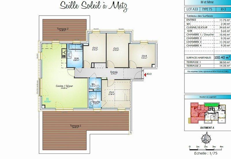 acheter appartement 5 pièces 100.4 m² metz photo 1