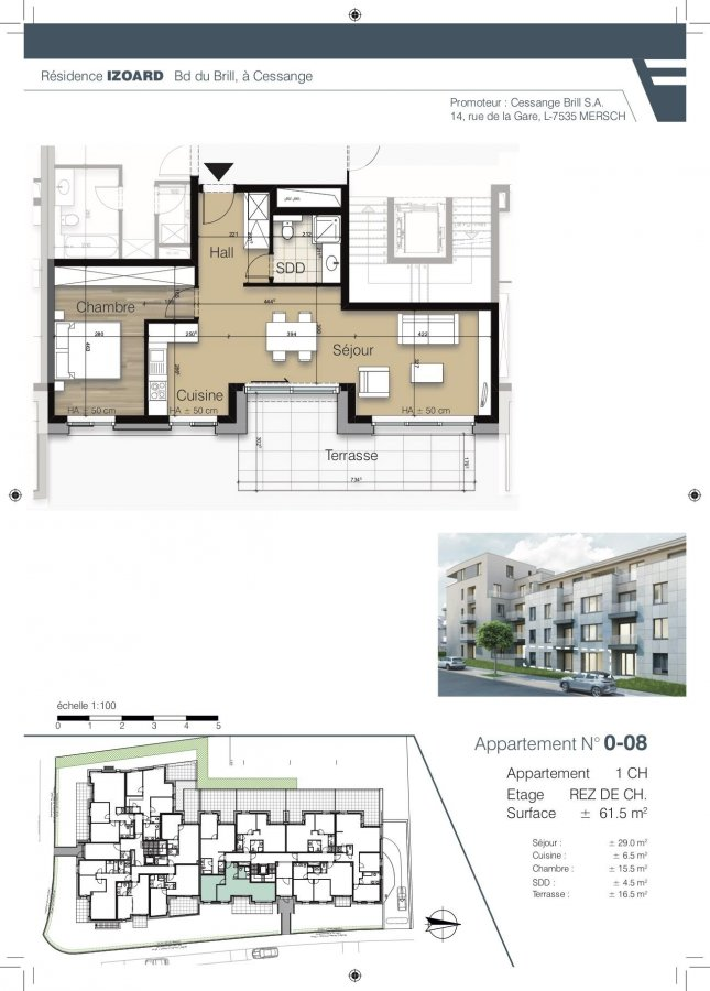 apartment for buy 1 bedroom 61.3 m² luxembourg photo 1