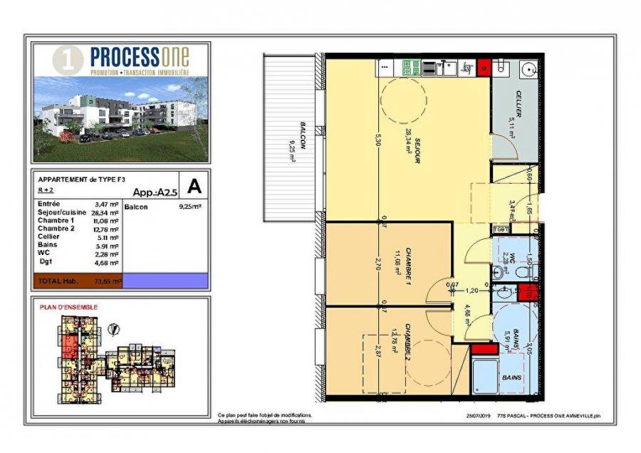 acheter appartement 3 pièces 73.66 m² amnéville photo 1