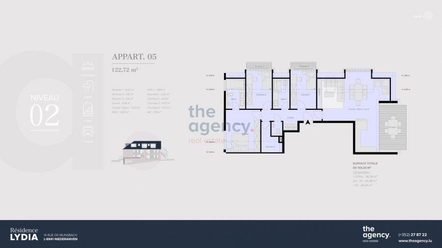 acheter appartement 3 chambres 122.6 m² niederanven photo 1