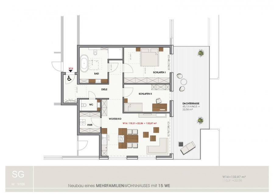 penthouse-wohnung kaufen 3 zimmer 132.87 m² temmels foto 1