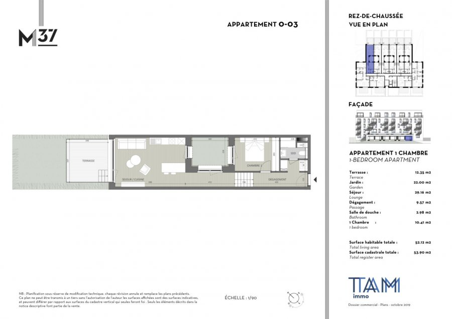 acheter appartement 1 chambre 52.12 m² luxembourg photo 2