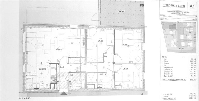 acheter appartement 4 pièces 85 m² vandoeuvre-lès-nancy photo 1