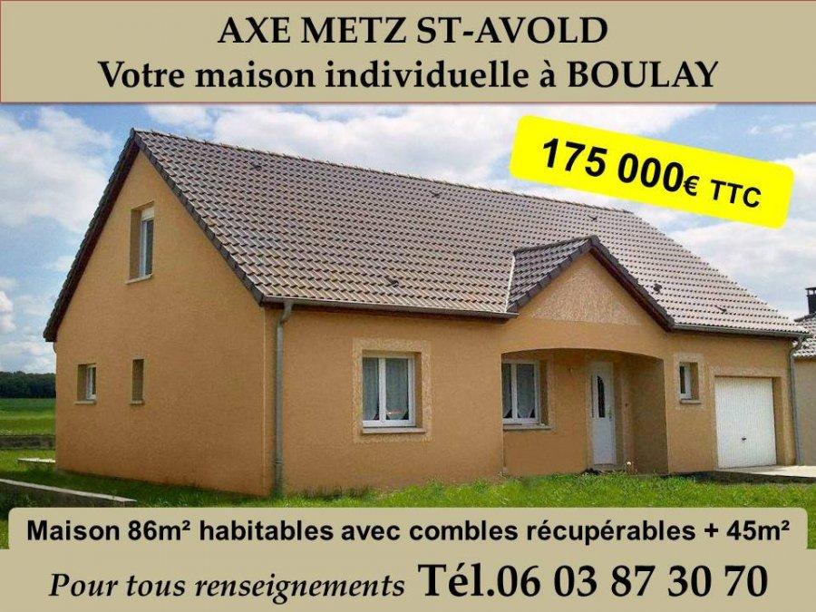 Maison individuelle en vente boulay moselle 86 m for Vente maison individuelle moselle