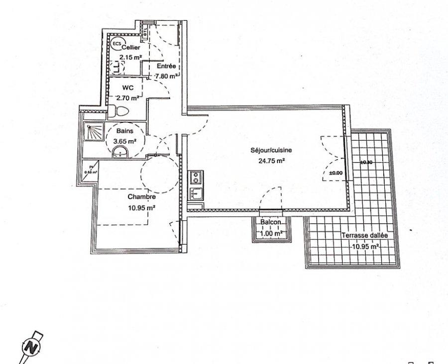 louer appartement 2 pièces 53 m² yutz photo 2