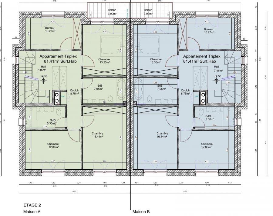 Duplex à vendre 4 chambres à Hellange