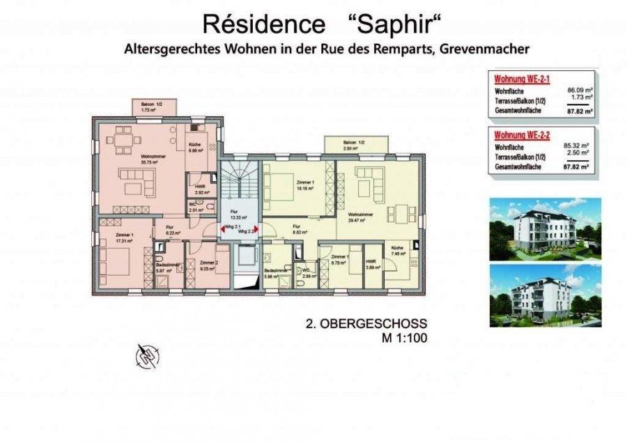 Appartement à vendre 2 chambres à Grevenmacher