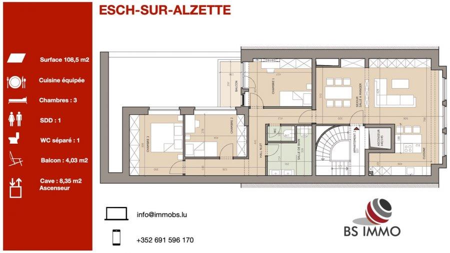 acheter appartement 3 chambres 108.5 m² esch-sur-alzette photo 1
