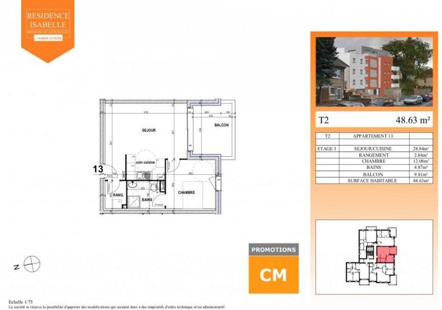 acheter appartement 0 pièce 48.63 m² audun-le-tiche photo 2