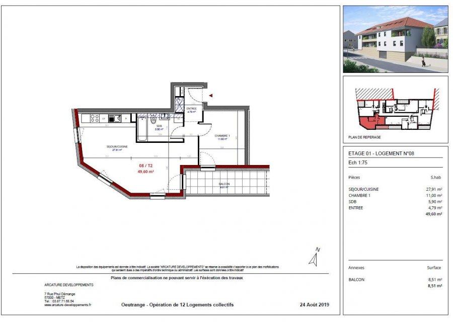 Appartement à vendre F2 à Thionville-Oeutrange