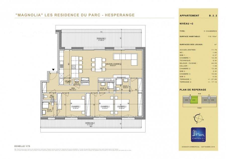 penthouse-wohnung kaufen 3 schlafzimmer 118.18 m² hesperange foto 2