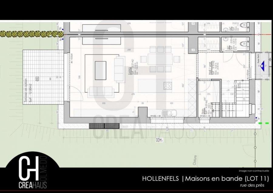 acheter maison jumelée 3 chambres 134.14 m² hollenfels photo 4