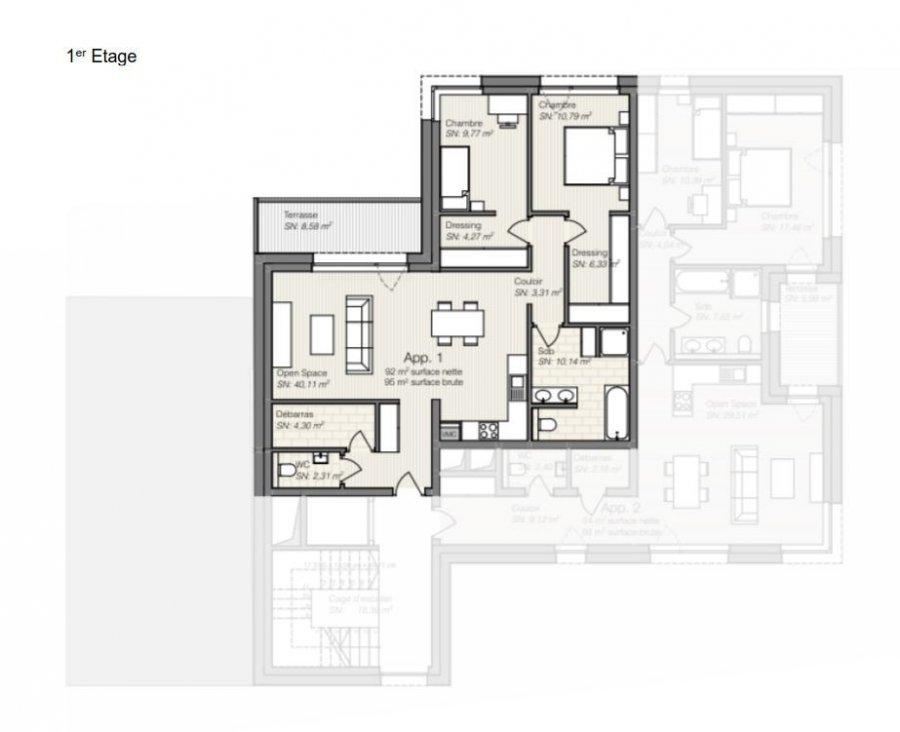 wohnung kaufen 2 schlafzimmer 95.64 m² differdange foto 3