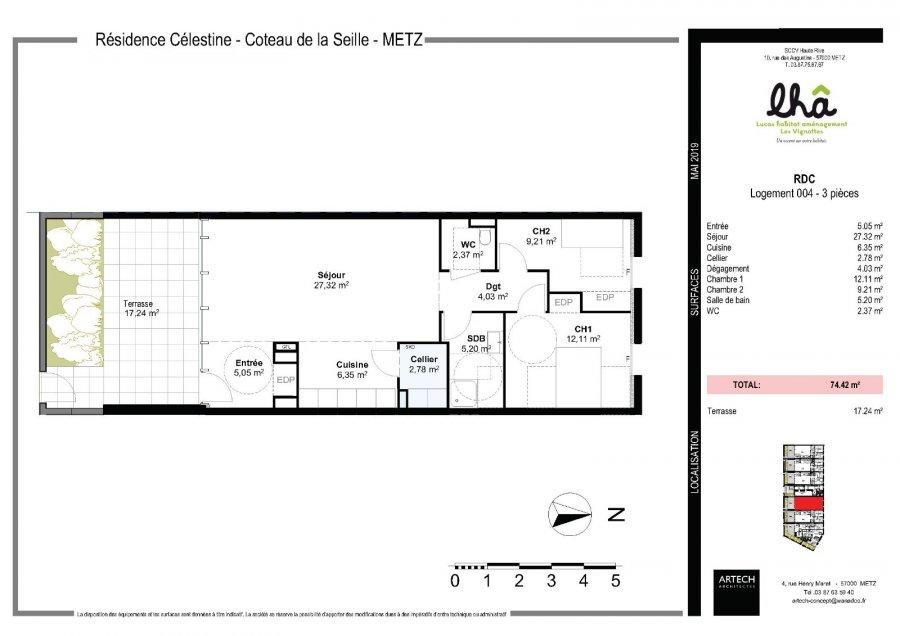 acheter appartement 3 pièces 74.42 m² metz photo 3