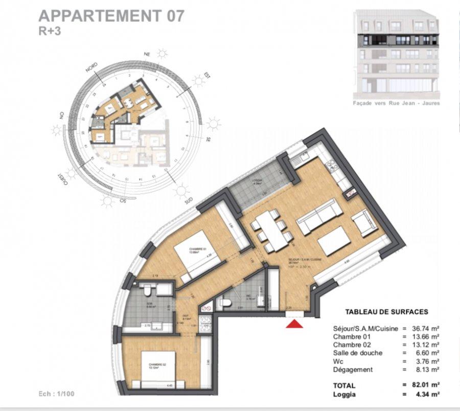 acheter appartement 2 chambres 87.46 m² dudelange photo 2