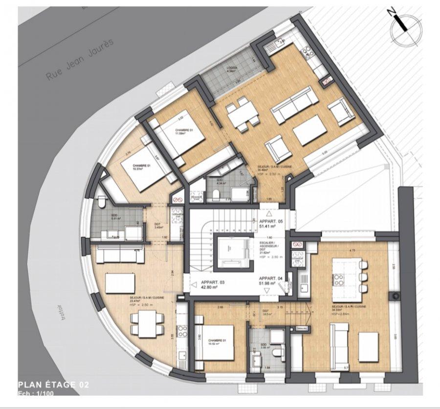 acheter appartement 2 chambres 87.46 m² dudelange photo 3