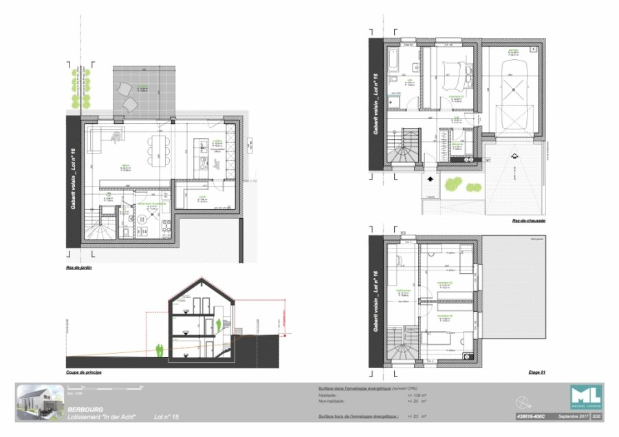 acheter maison individuelle 3 chambres 138 m² berbourg photo 3
