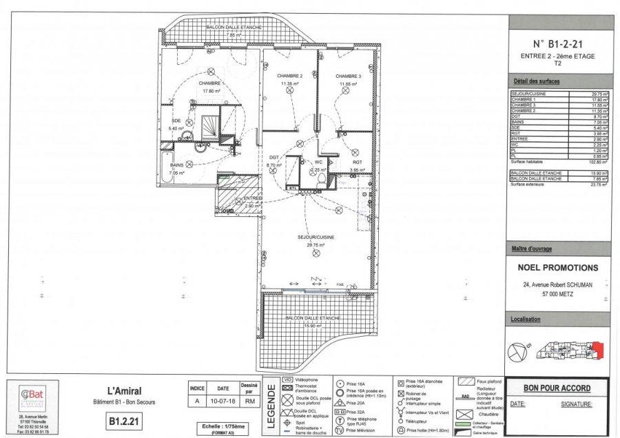 acheter appartement 4 pièces 102 m² metz photo 1