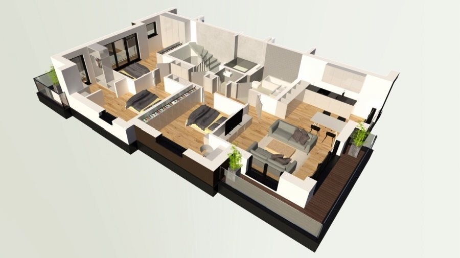 apartment for buy 3 bedrooms 115.35 m² dudelange photo 2