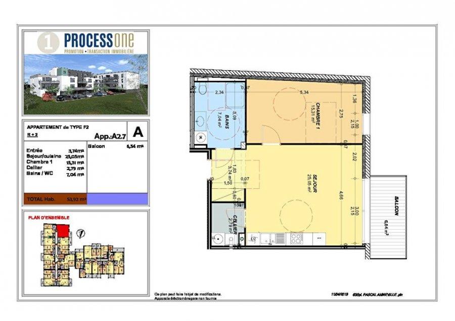 acheter appartement 2 pièces 53.92 m² amnéville photo 1
