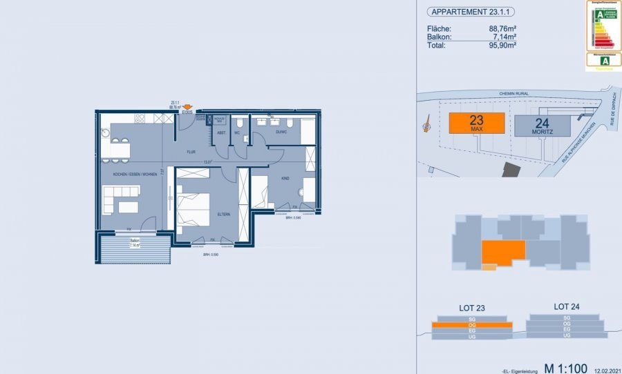 apartment for buy 2 bedrooms 89.87 m² bertrange photo 4