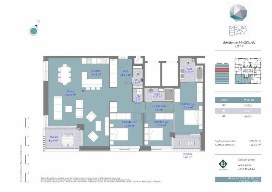 acheter appartement 3 chambres 129.7 m² luxembourg photo 4