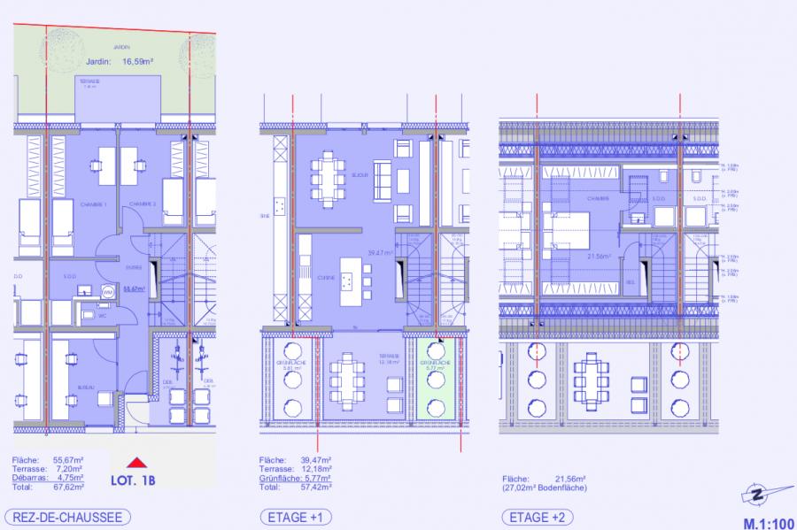 terraced for buy 4 bedrooms 124.45 m² niederanven photo 3