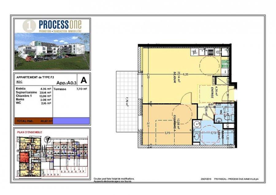 acheter appartement 2 pièces 47.31 m² amnéville photo 1
