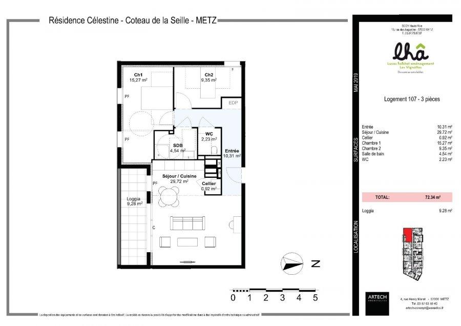 Appartement à vendre F3 à Queuleu-Queuleu