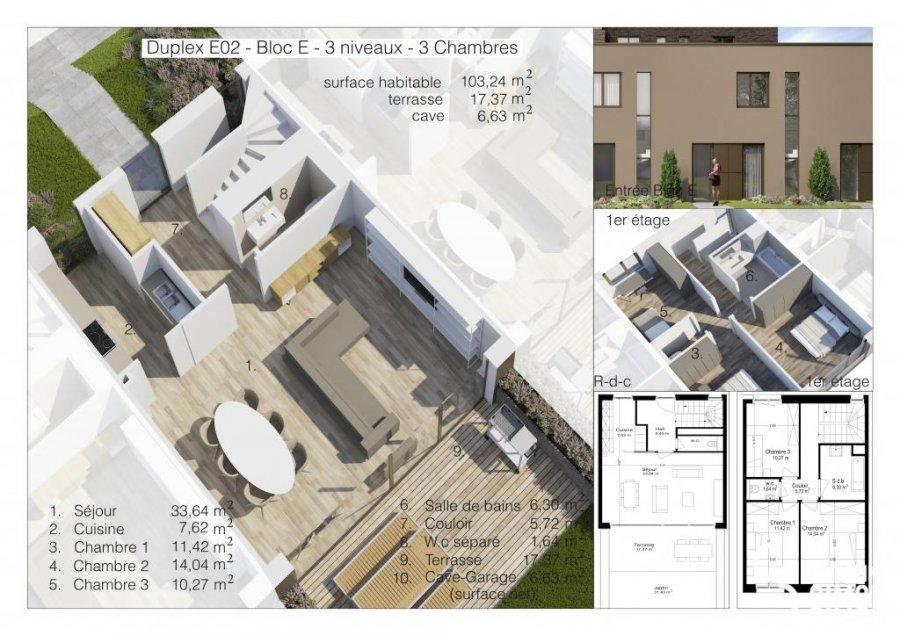 dreigeschossige wohnung kaufen 3 schlafzimmer 217.75 m² differdange foto 5