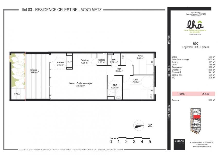 acheter appartement 3 pièces 74 m² metz photo 2
