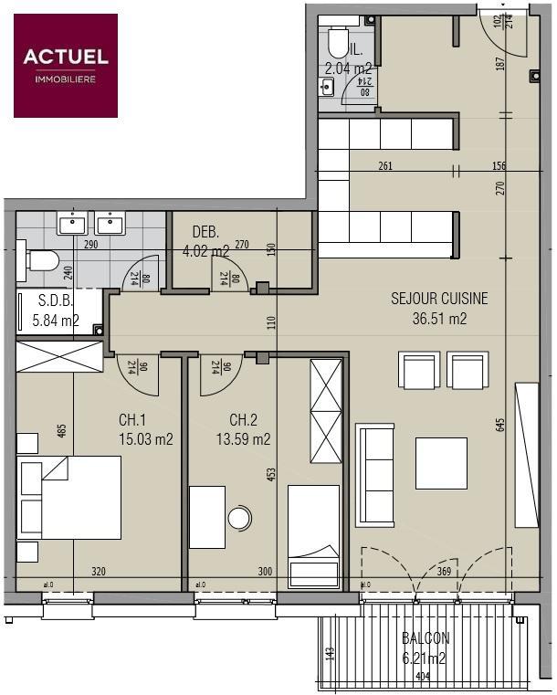 wohnung kaufen 2 schlafzimmer 93.18 m² kayl foto 4