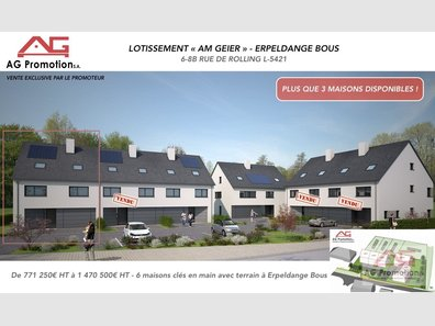 Maison individuelle à vendre 4 Chambres à Erpeldange (Bous) - Réf. 6216309