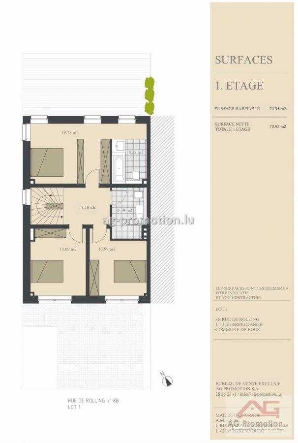 acheter maison individuelle 4 chambres 181.9 m² erpeldange (bous) photo 3