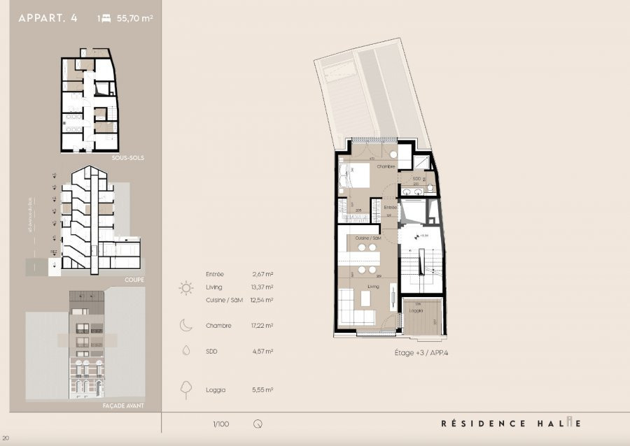 apartment for buy 1 bedroom 53 m² luxembourg photo 2