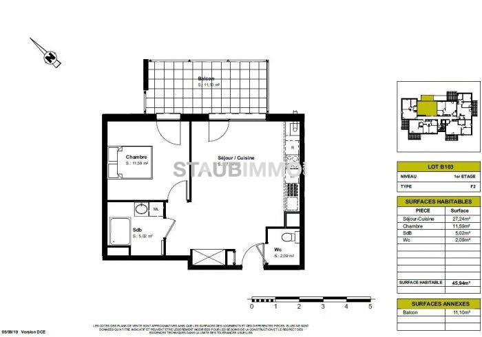 acheter appartement 2 pièces 45 m² blotzheim photo 3
